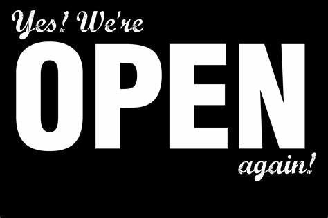 Newsflash – The Home is Open again